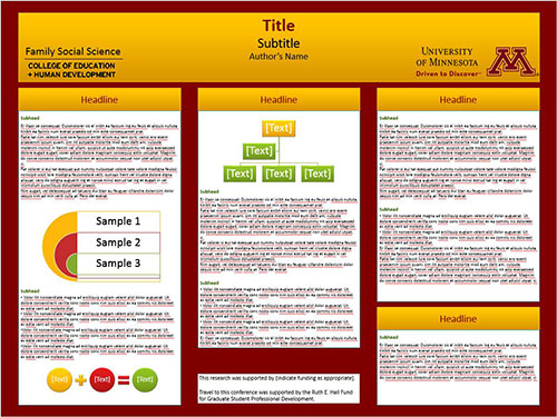 Scientific poster template data collection methods for Eposter template