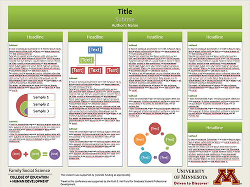 poster presentation resources | fsos | umn, Presentation templates