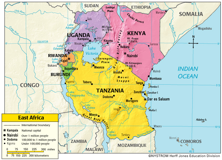 East Africa Map